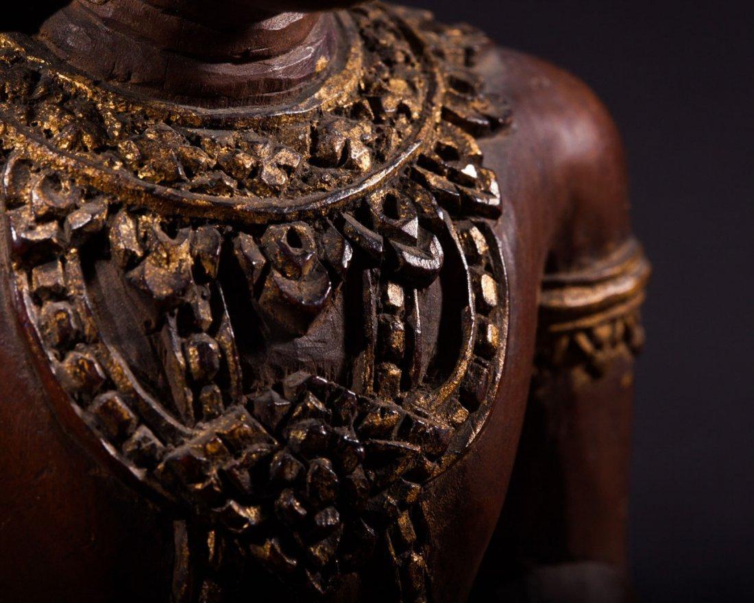 A Thai Wooden Buddha - 8