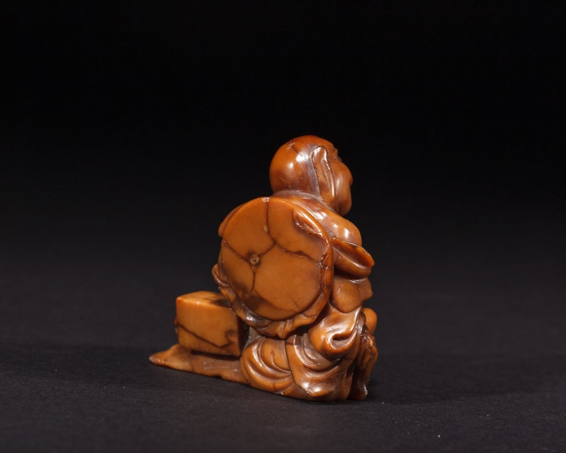A Chinese Soapstone Figure of a Arhat - 4