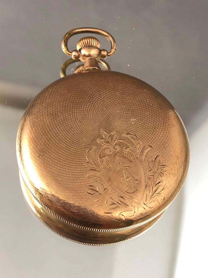 Antique gold filled Elgin pocket watch - 2