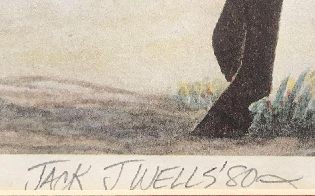 Pencil signed and numbered Jack J. Wells framed print - 4