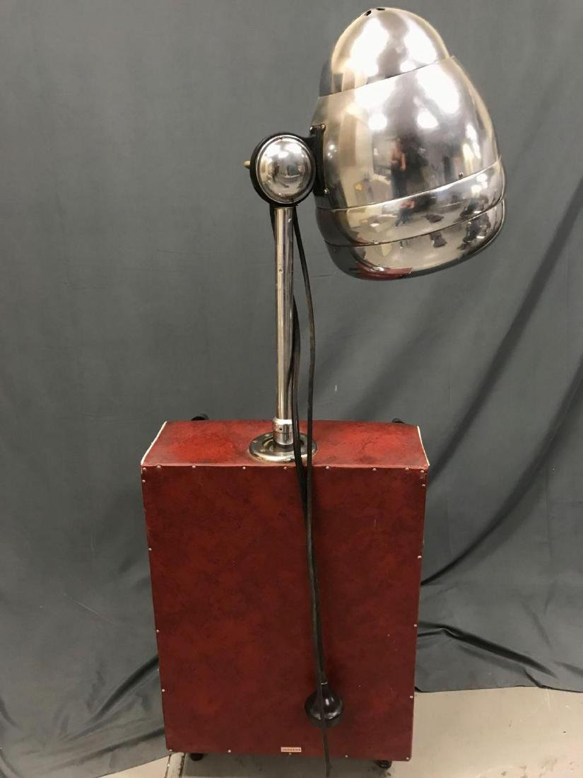 Vintage red and chrome Blue Streak electric hair dryer - 9