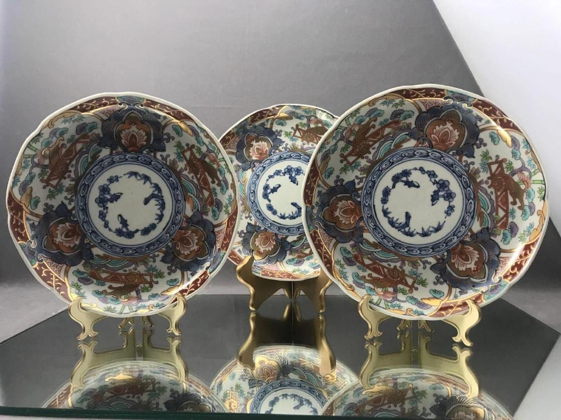 3 Older Chinese painted plates