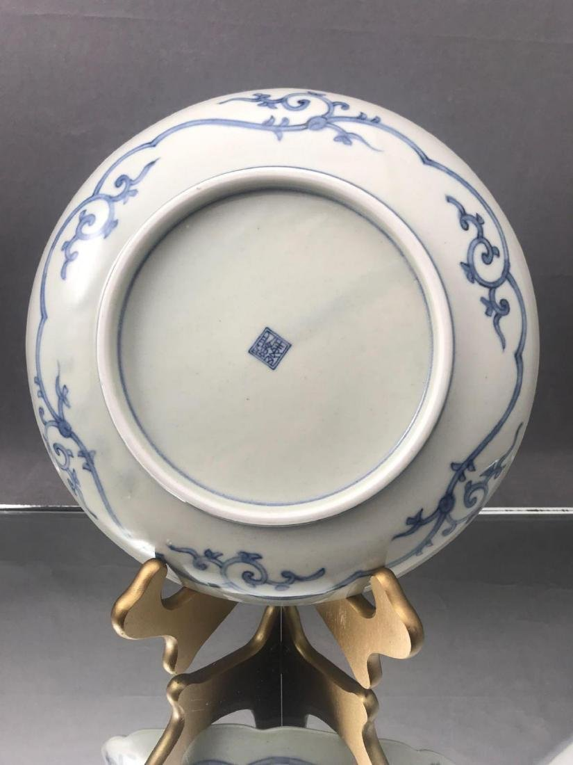 3 Older Chinese painted plates - 3