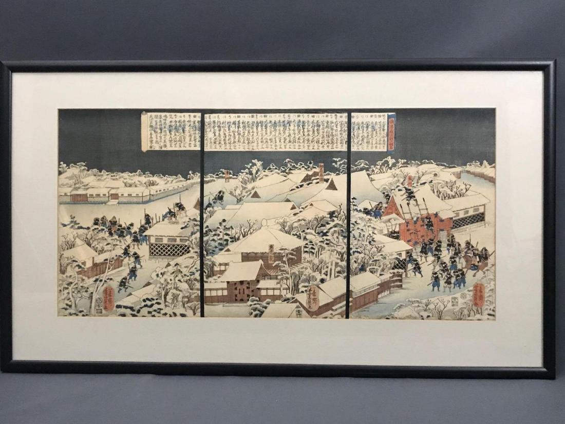 Japanesetriptych Story of the Ronin Utagawa Kuniyoshi