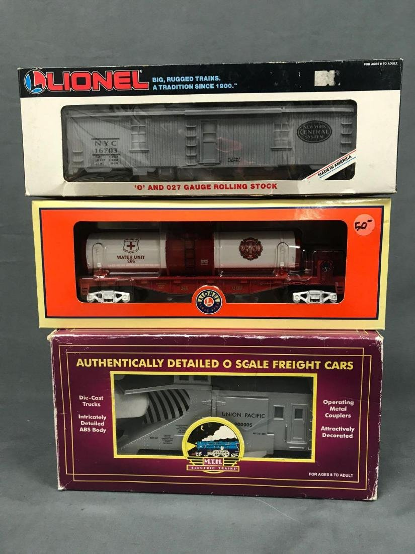 3 O Scale Lionel and MTH utility cars. Included are