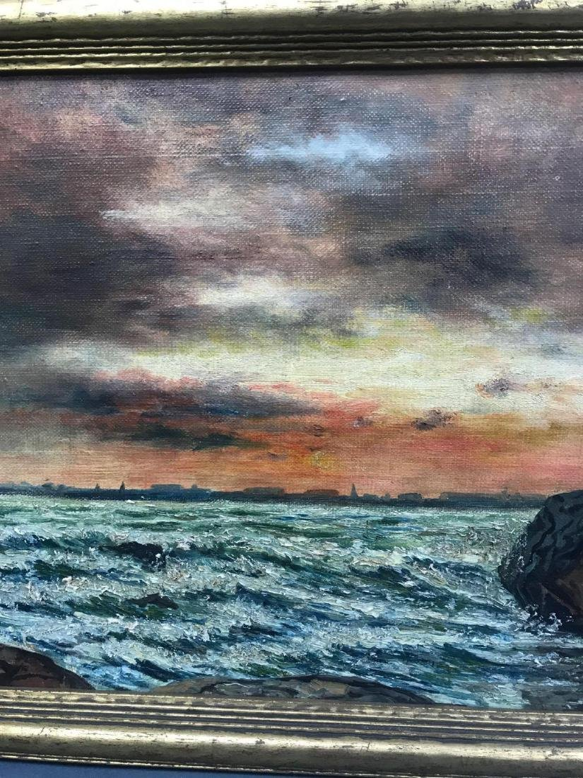 Oil on canvas seascape oceanic art, signed G.C. DeCook - 7