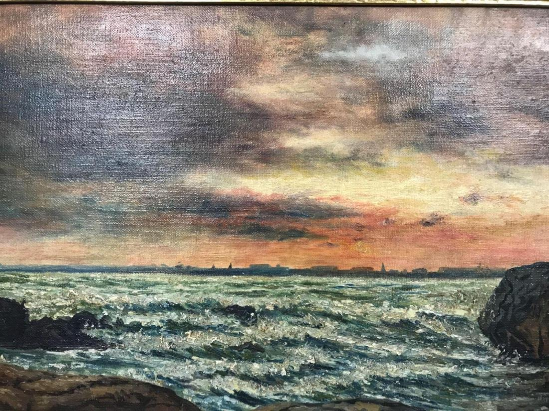 Oil on canvas seascape oceanic art, signed G.C. DeCook - 9