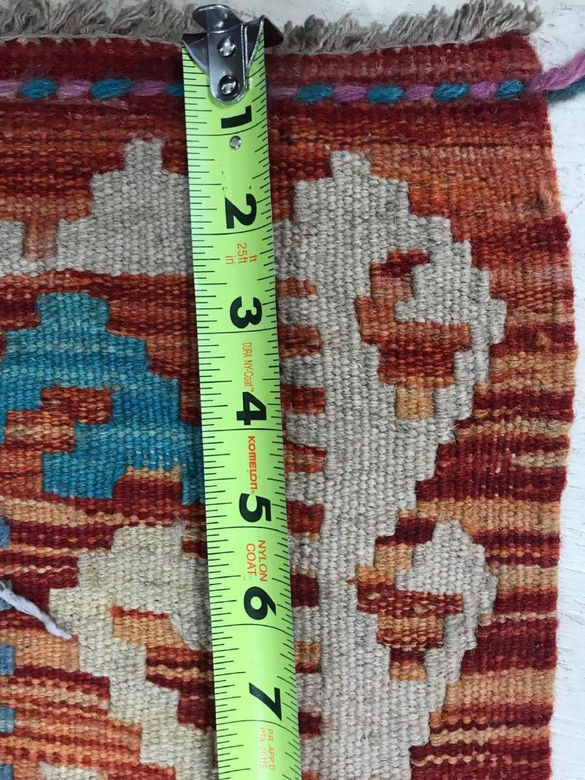 100% Wool Afghan Kilim - 10