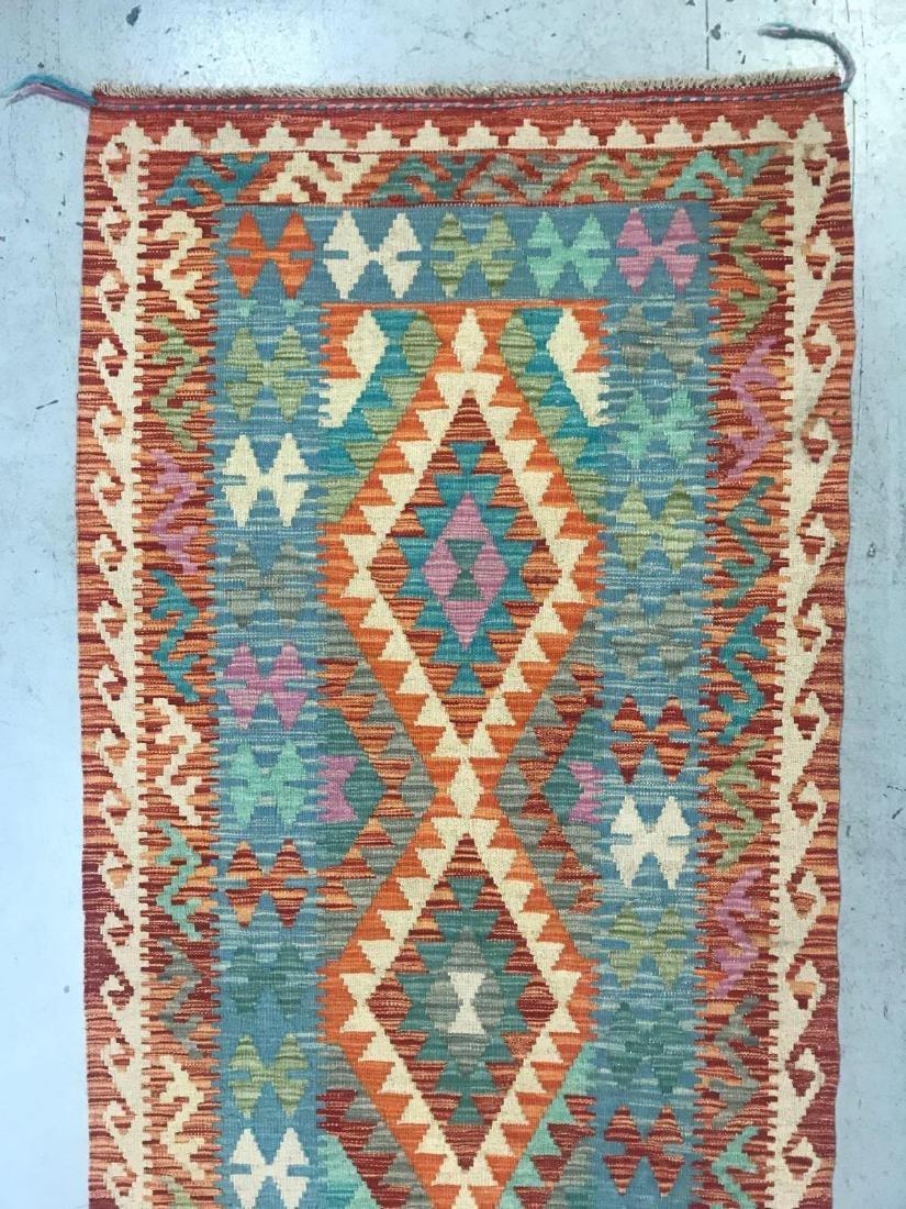 100% Wool Afghan Kilim - 3