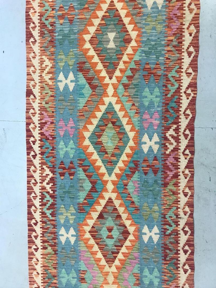 100% Wool Afghan Kilim - 4