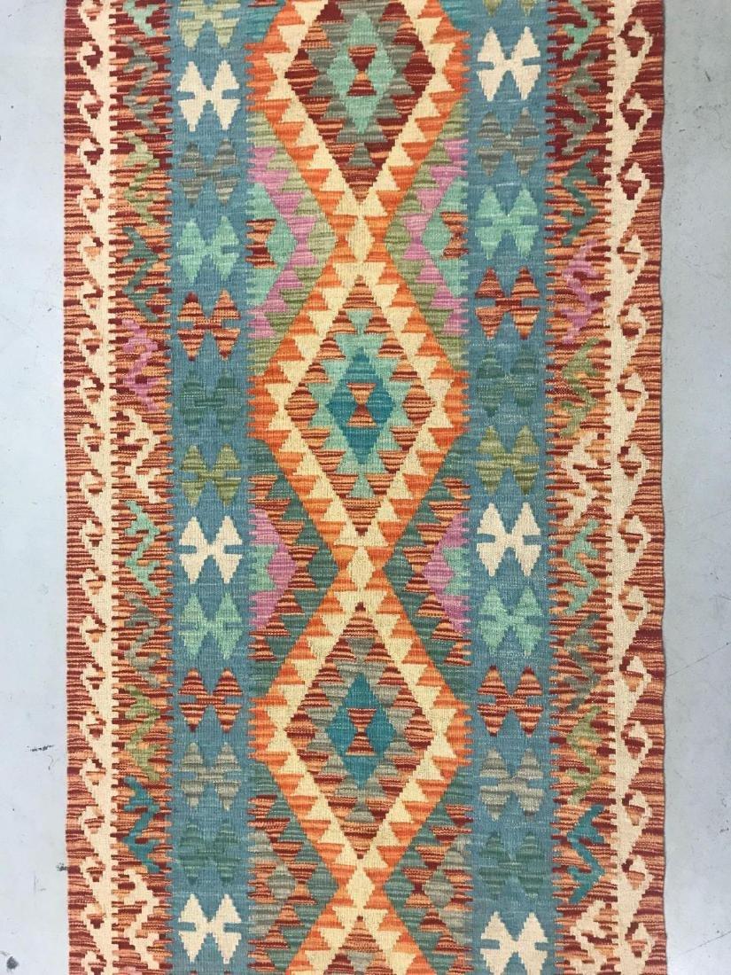 100% Wool Afghan Kilim - 5