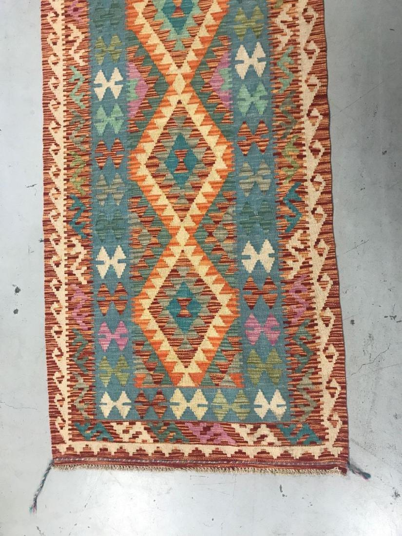 100% Wool Afghan Kilim - 6