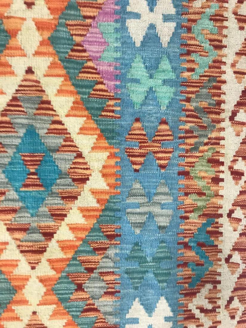 100% Wool Afghan Kilim - 7