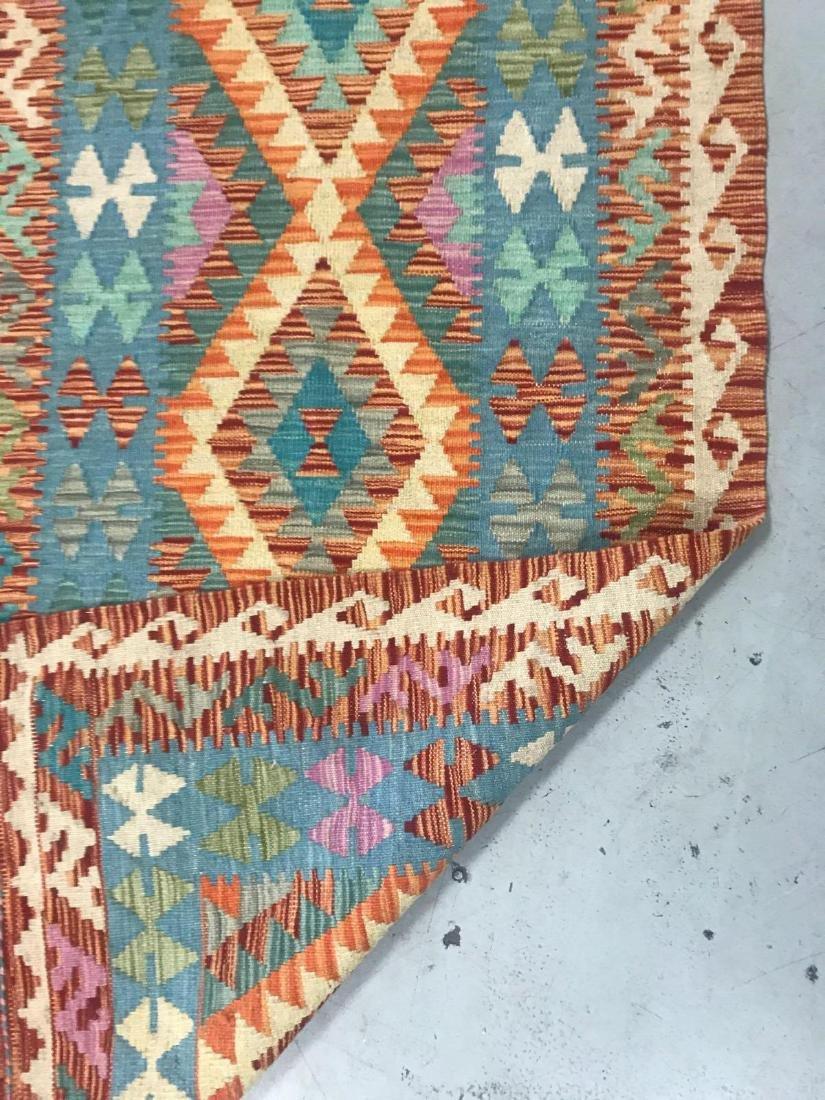 100% Wool Afghan Kilim - 8