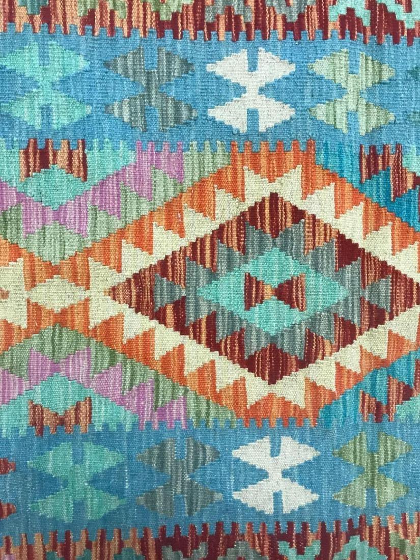 100% Wool Afghan Kilim - 9