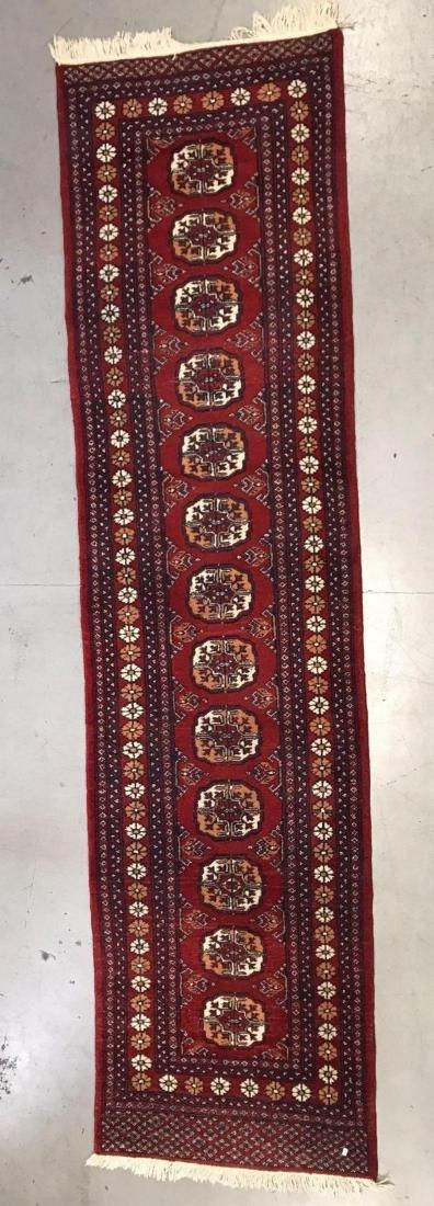 Persian Bokhara wool runner rug