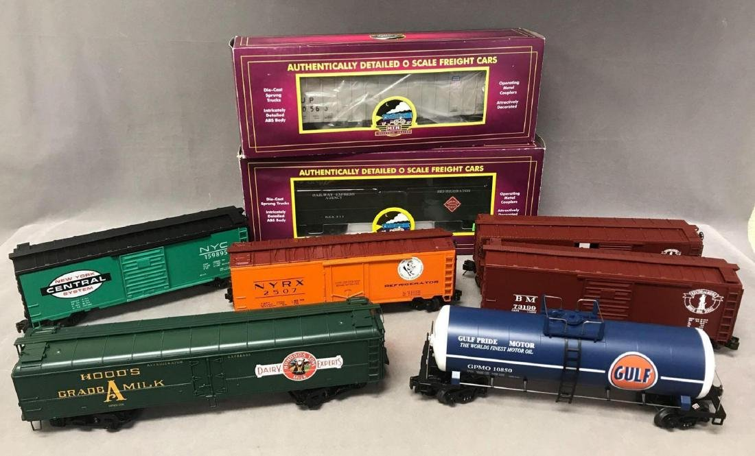 Lot of 8 MTH O scale Freight cars