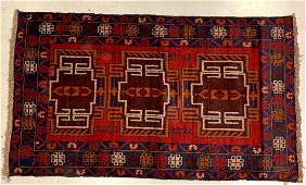 Afghan Wool Hand Woven Rug 20th C