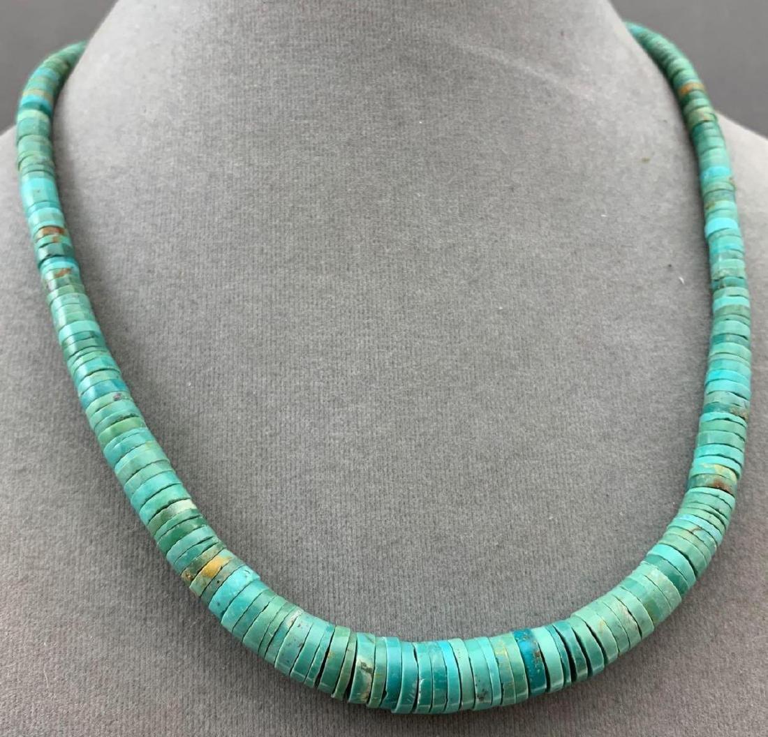 Turquoise Heishi bead necklace