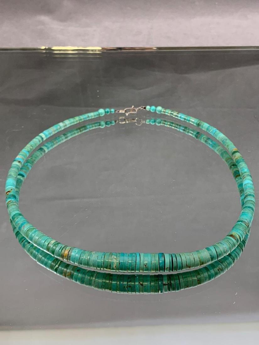 Turquoise Heishi bead necklace - 2