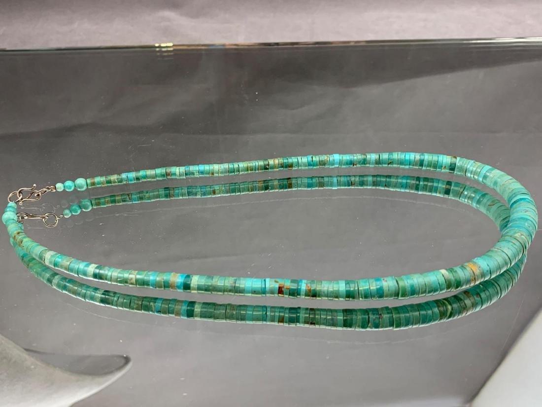 Turquoise Heishi bead necklace - 3