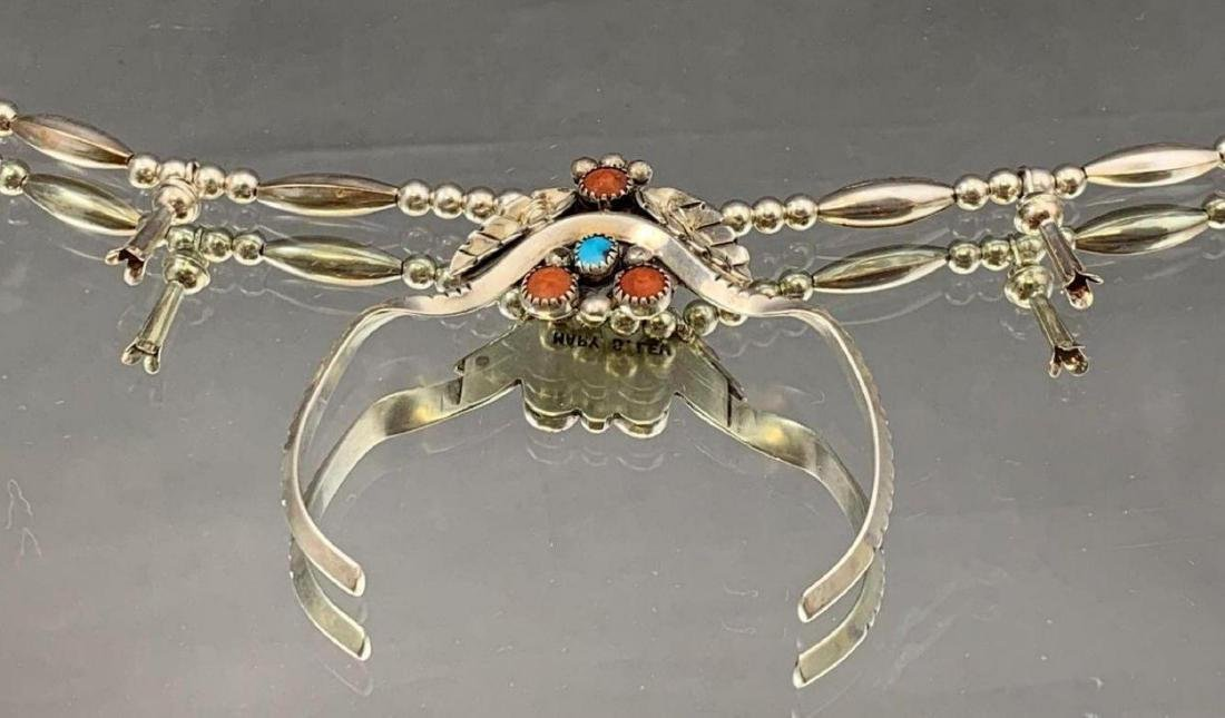 Navajo Mary S. Lew Sterling Silver turquoise, and spiny