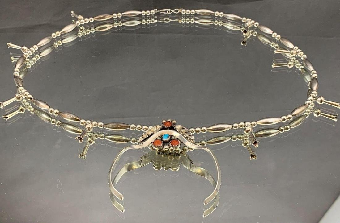 Navajo Mary S. Lew Sterling Silver turquoise, and spiny - 2