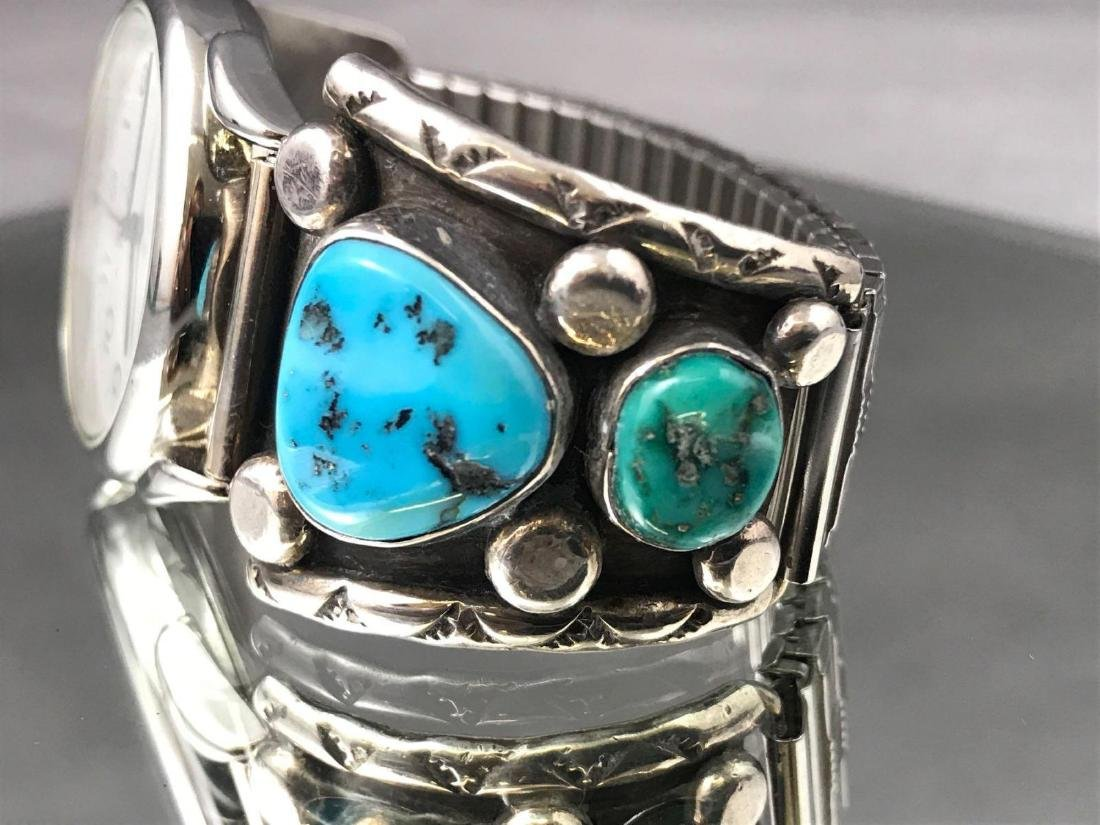 Jerry Roan, Navajo Turquoise Nugget and Sterling Silver - 4