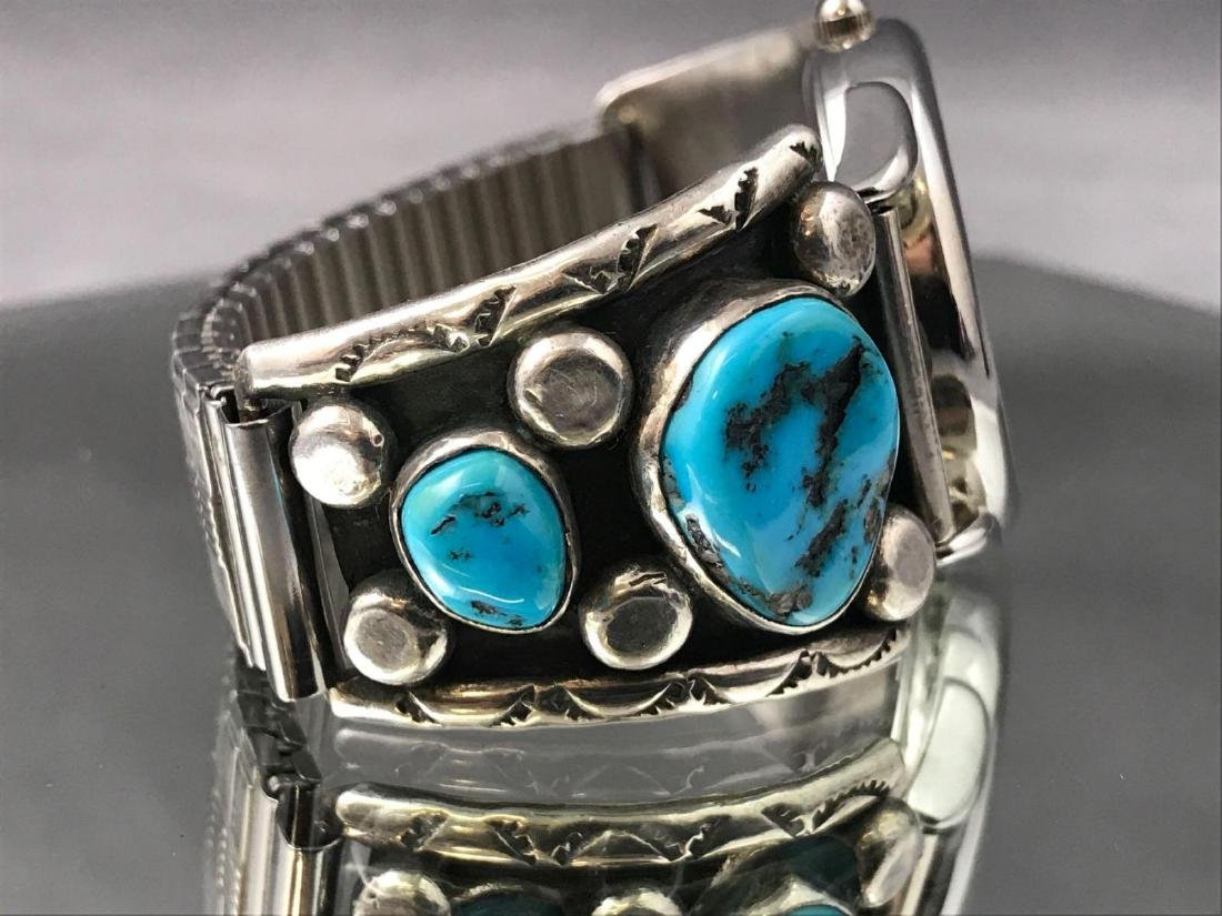 Jerry Roan, Navajo Turquoise Nugget and Sterling Silver - 5