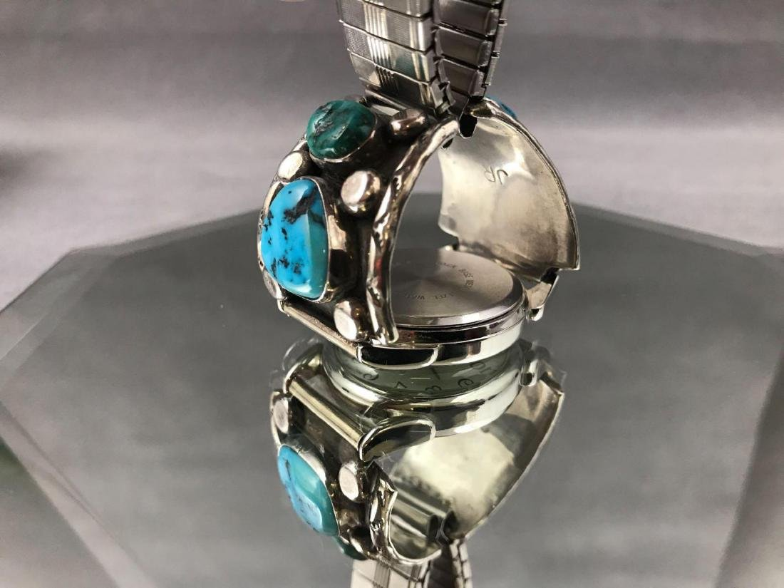 Jerry Roan, Navajo Turquoise Nugget and Sterling Silver - 6