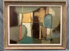 Large Darwin Musselman Mid Century original framed oil