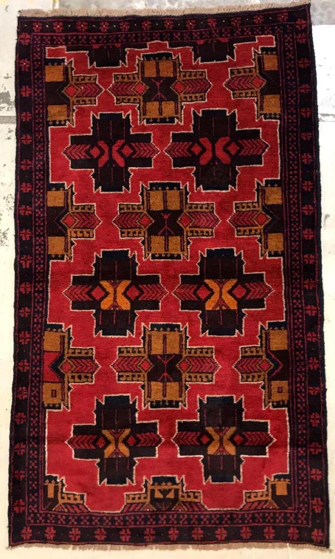Afghan tribal 100% wool rug