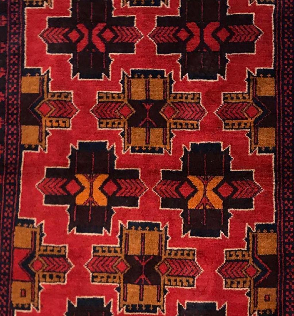 Afghan tribal 100% wool rug - 2