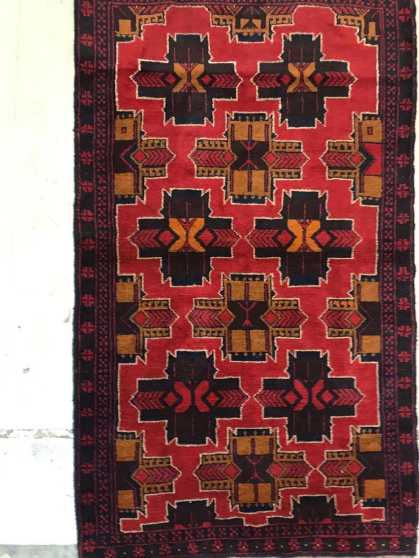 Afghan tribal 100% wool rug - 3