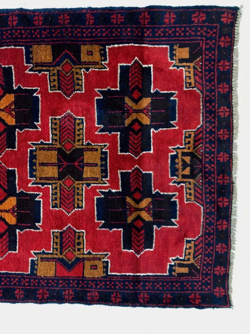 Afghan tribal 100% wool rug - 4