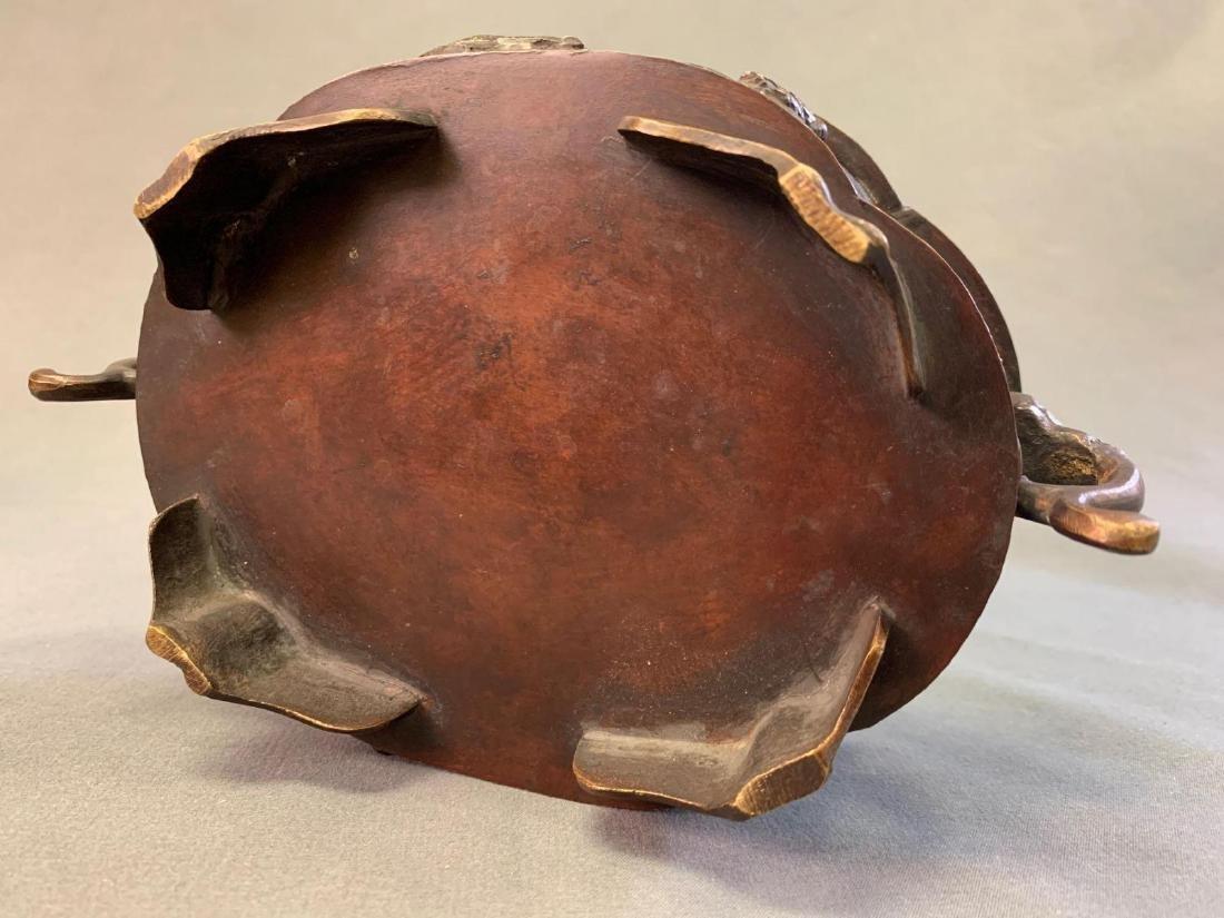 Japanese Bronze Suiban or Vase for Ikebana, Meiji - 8