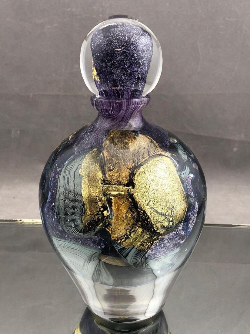 Jean Claude Novaro Art glass perfume bottle