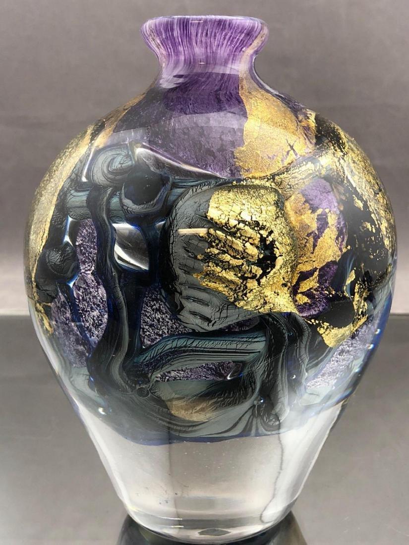 Jean Claude Novaro Art glass perfume bottle - 5
