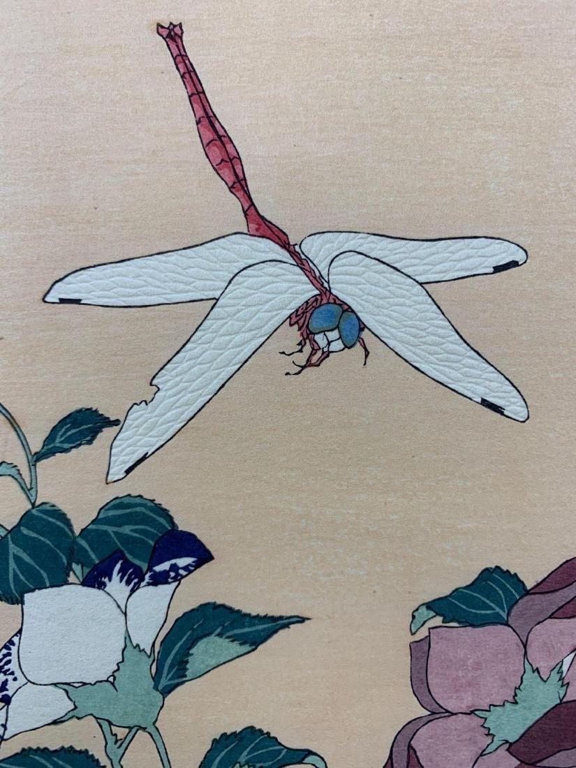 KatsushikaHokusai, Bellflower and Dragonfly, Japanese - 3