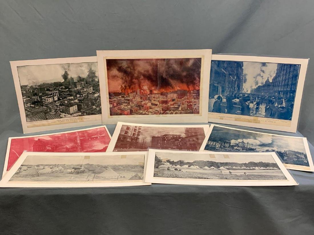 Eight Panoramic Photographs, San Francisco Earthquake,