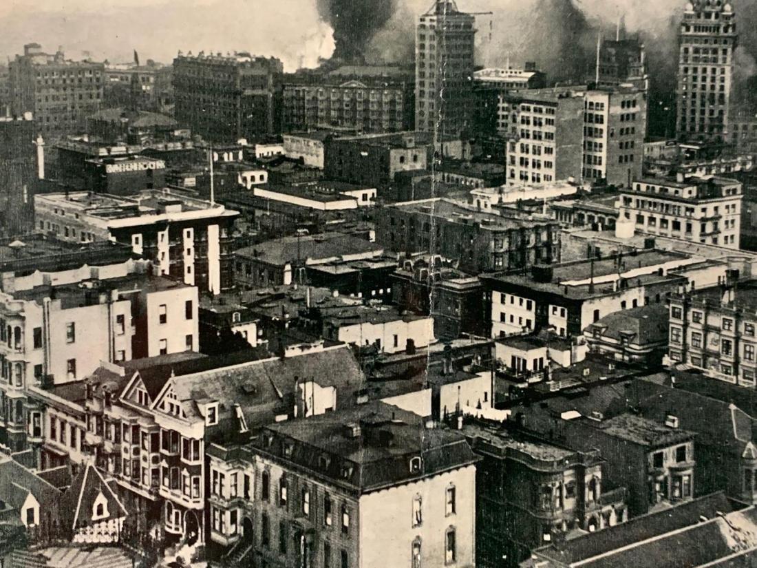 Eight Panoramic Photographs, San Francisco Earthquake, - 4