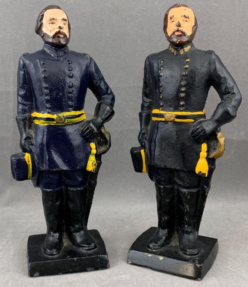 Pair of Cast Iron Union Soldier Bookends or Doorstops,