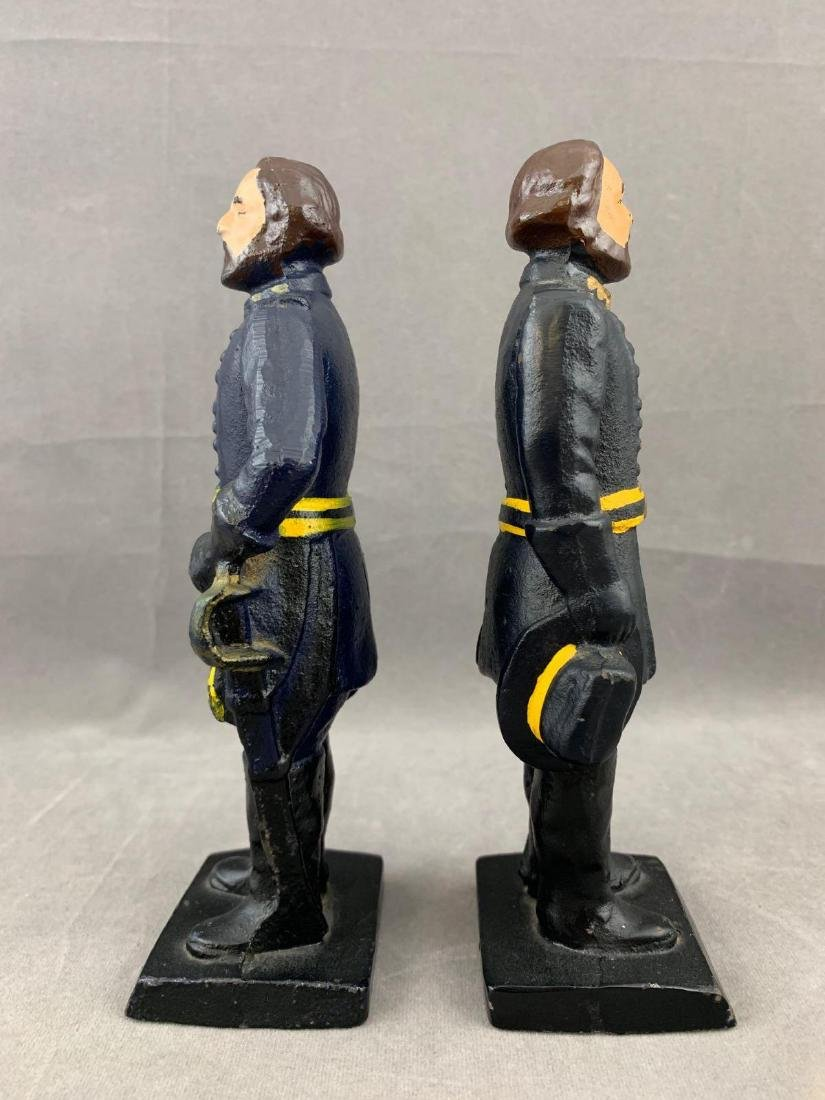 Pair of Cast Iron Union Soldier Bookends or Doorstops, - 2