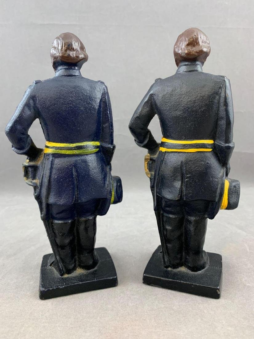 Pair of Cast Iron Union Soldier Bookends or Doorstops, - 3