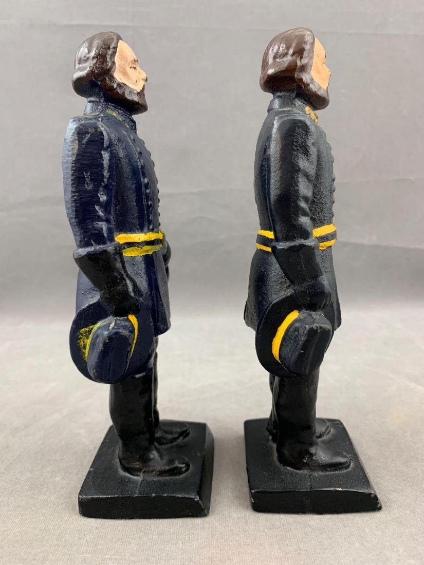 Pair of Cast Iron Union Soldier Bookends or Doorstops, - 4