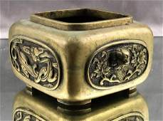 Chinese Bronze Censer with Dragon Motif