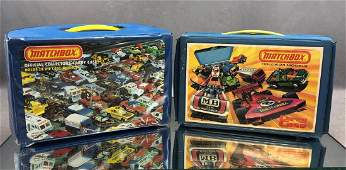 Lot of 50 Diecast Cars in Two Matchbox Cases