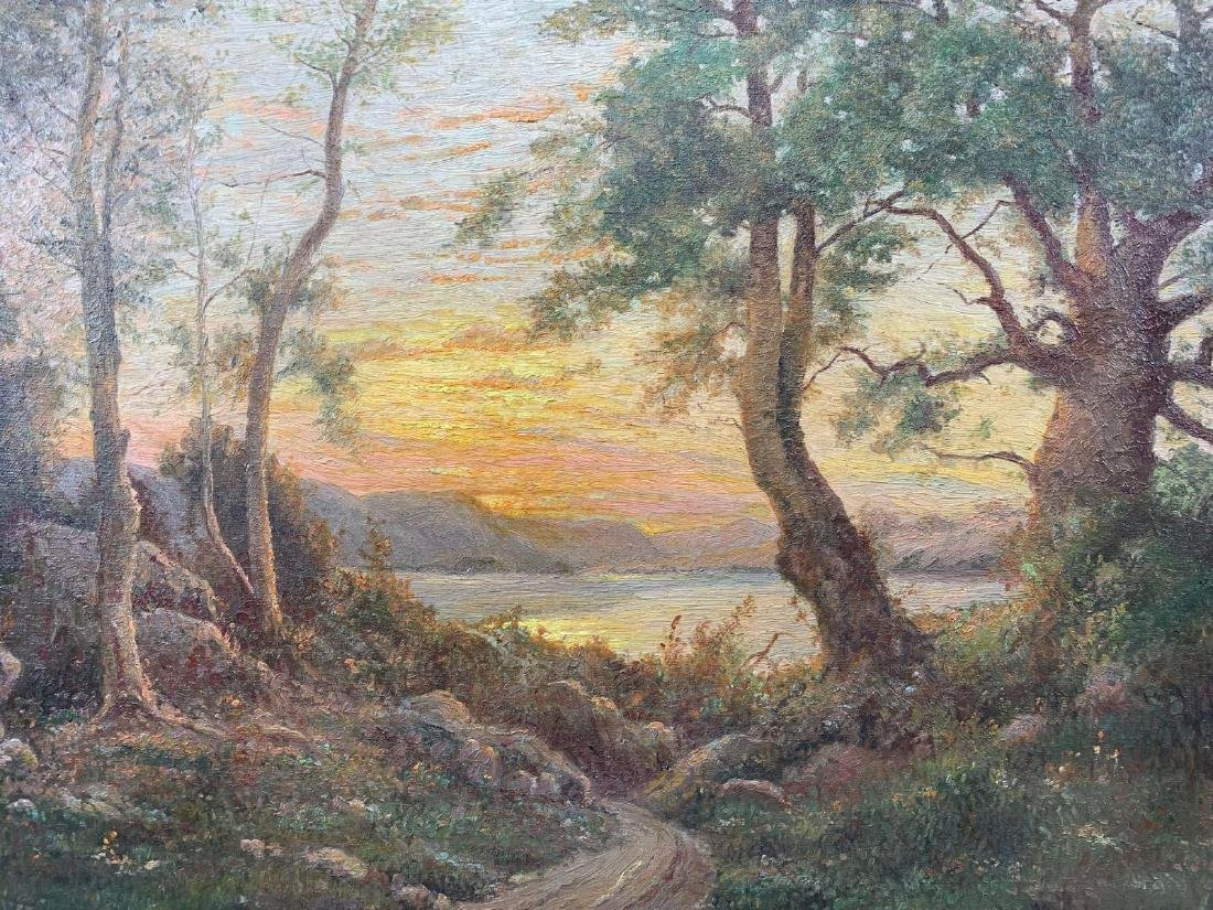 American School, Forest Landscape at Sunset, Oil on - 2