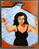 John Barbato, Portrait of a Woman, Acrylic on Canvas