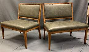 Designor A. Rudin, Oversized Bench Style Chairs